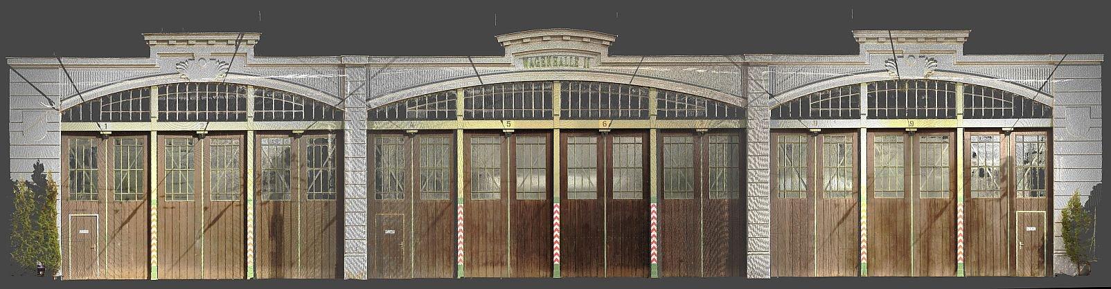 Remise Brigittenau, Scan Fassade
