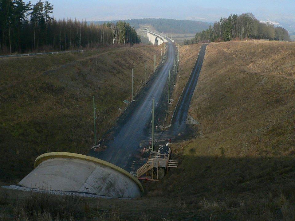 Portal Tunnel Müss Nord über Grümpentalbrücke bis Portal Tunnel Baumleite Süd