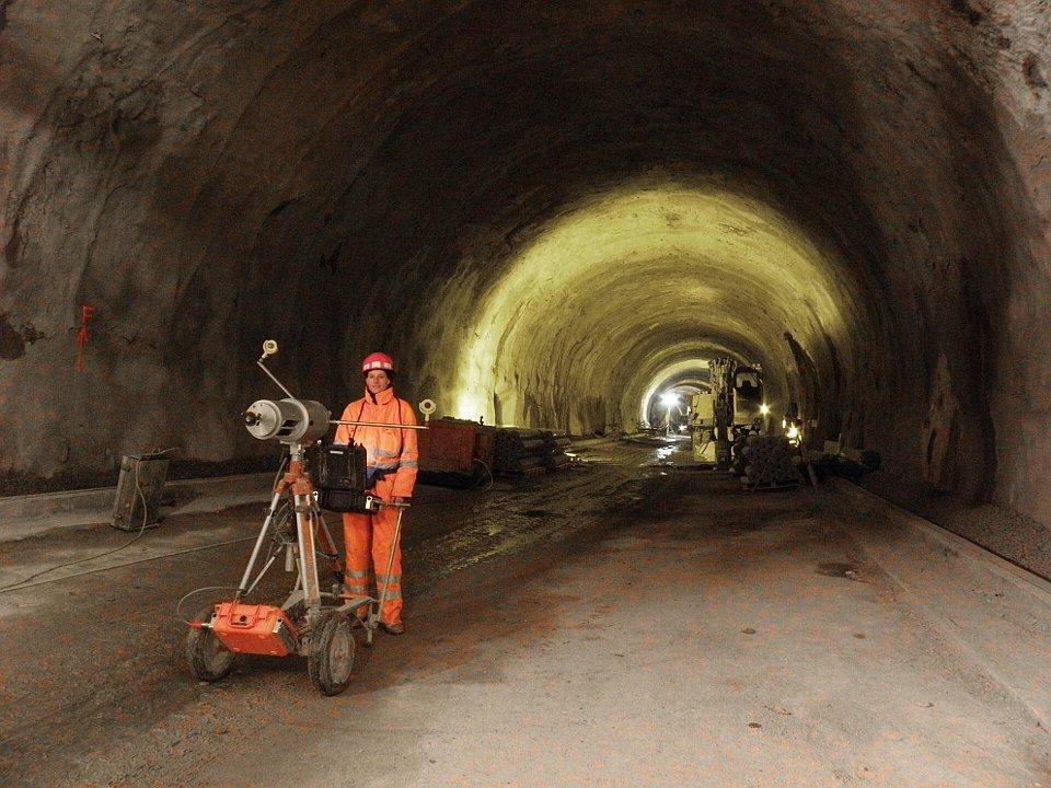 Tunnelscan nach Abklingen der Verformungen