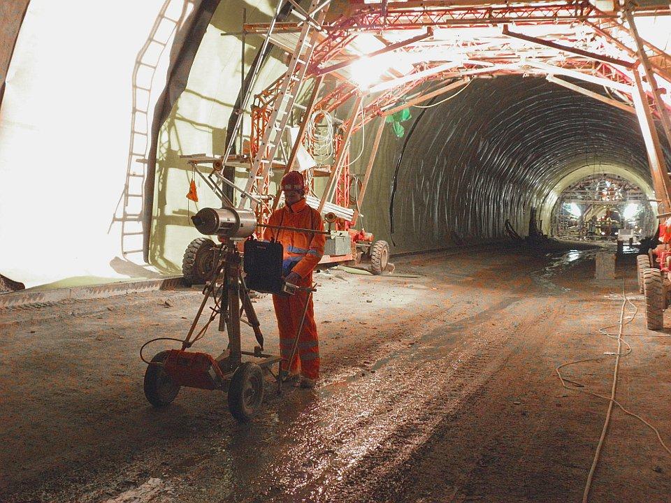 Tunnelscan vor Aufbringen der Isolierung