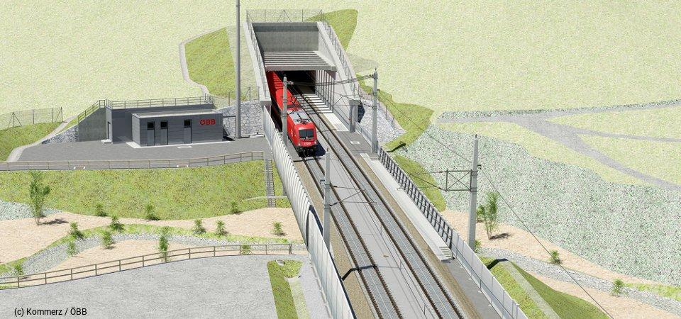 Visualisierung Tunnel Untersammelsdorf Ostportal