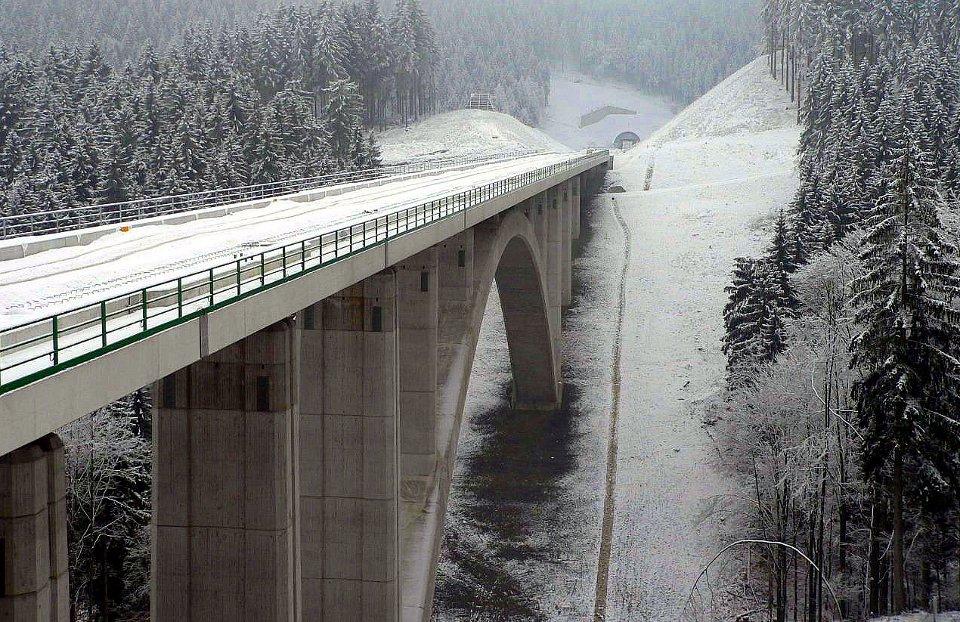 Portal Tunnel Goldberg Nord und Dunkeltalbrücke